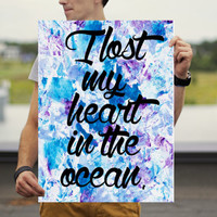 Wanderlust Poster - Ocean Poster - Inspiration Wall Art - Quote Print - Motivational Poster - Inspirational Poster - Travel Poster