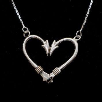 Angler's Heart Necklace