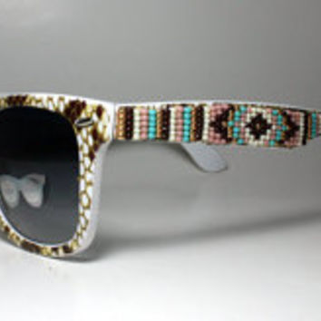 Beaded Sunglasses Sand Snake
