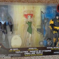 The Batman Criminial Capture EXP Poison Ivy Mr. Freeze figure DC Mattel New
