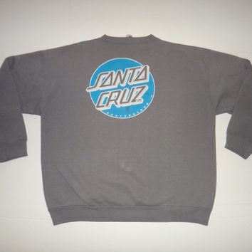 New Year Sale Vintage Santa Cruz 1980s Skateboard Sweatshirt