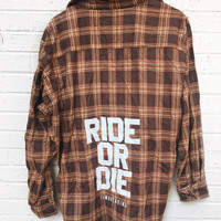 Ride or Die Flannel - Brown