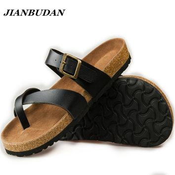 Womens New Cork Cross Strap Buckle Casual Cool Sandals