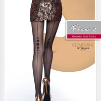 CLEMENTINE Patterned Tights 40 Den Fiore Hosiery