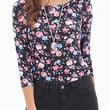 FOREVER 21 Rose Print Knit Top