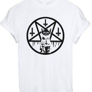 Inverted Cross & Pentacle Kitten T Shirt