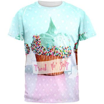 Treat Yo Self Cupcakes All Over Mens T Shirt