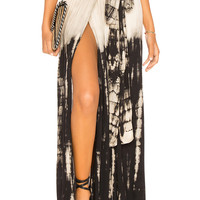 Tiare Hawaii Grand Cayman Skirt in Black Creme