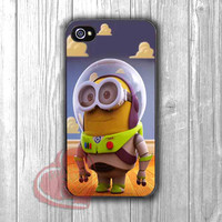Minion as Buzz Lightyear - zL for iPhone 4/4S/5/5S/5C/6/ 6+,samsung S3/S4/S5,samsung note 3/4