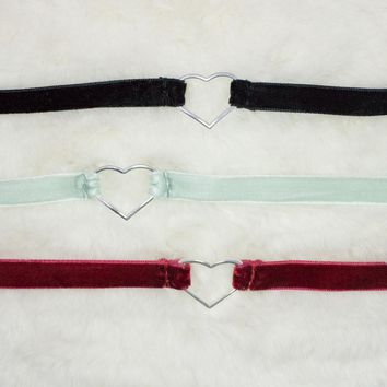 Velvet Heart Chokers