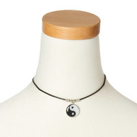 Yin Yang Cord Choker Necklace