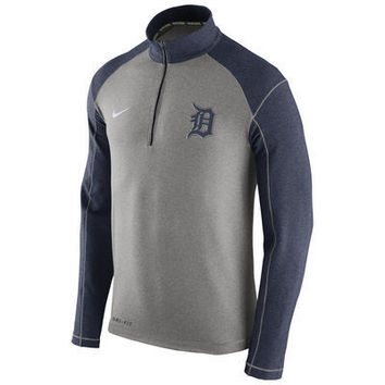 MLB Detroit Tigers Nike Dri Fit Touch Fleece Half Zip Sweat Shirt