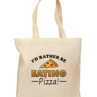 I'd Rather - Pizza Grocery Tote Bag