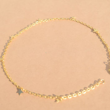 Star Dangle Choker GOLD