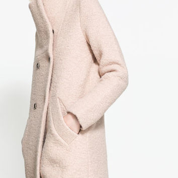 LONG PINK COAT - Coats - TRF | ZARA United States