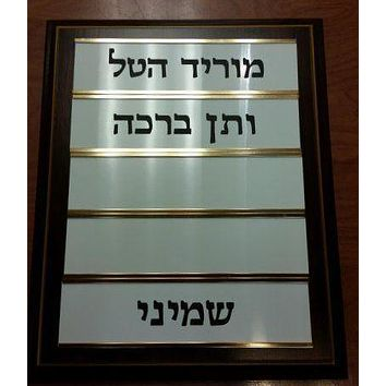 Synagogue Temple Morid Hatal Signage Board
