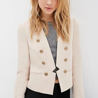 Beige Long Sleeve Blazer