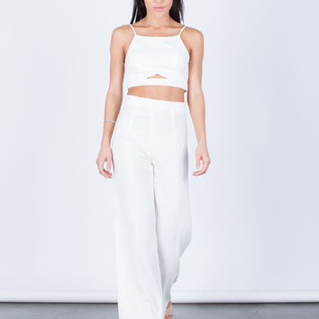 Cropped Cami and Pants Set