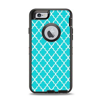 The Morocan Teal Pattern Apple iPhone 6 Otterbox Defender Case Skin Set