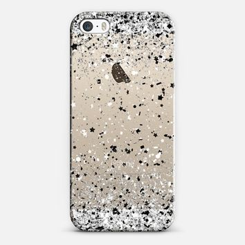Silver Black White Confetti Explosion iPhone 5s case by Organic Saturation | Casetify