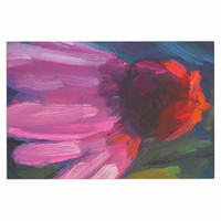 "Carol Schiff ""Shady Coneflower "" Pink Red Decorative Door Mat"