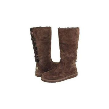 DCCKIN2 Uggs Boots Black Friday Sale Roseberry Tall 5734 Chocolate For Women 125 56