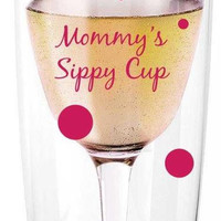 Mommy's Sippy Cup Wine Tumbler, Travel Wine Glass, Wine Glass, Plastic Wine Glass