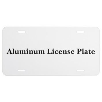 Personalized Aluminum License Plate