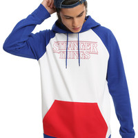 Stranger Things Blue Red & White Logo Hoodie
