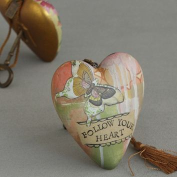 Follow Your Heart Art Ornament