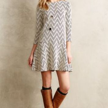 Chevron Crest Dress by Saturday/Sunday Neutral Motif