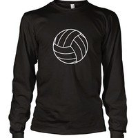 Volleyball Sports Long Sleeve Unisex T-Shirt Tee Black S