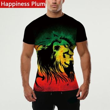 Men Shirt Lion King Tee Style 3d Printed