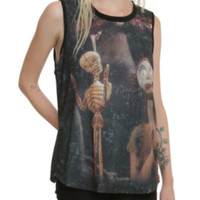 The Nightmare Before Christmas Sally Skeletons Girls Muscle Top
