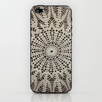 Vintage Crocheted Doily iPhone & iPod Skin by Tammy Franck