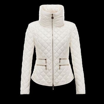 Moncler Down Jackets Women Beige