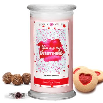 You are my Everything Valentine's Day Jewelry Greeting Candles