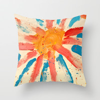 Sunny Day Throw Pillow by MonkeyMania