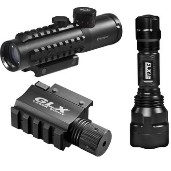 Barks 4x30 IR Electro Sight-Grn Laser/210 Lum LED Flashlight