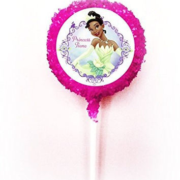 PRINCESS TIANA AND THE FROG White Chocolate Covered Oreo Cookie Pops
