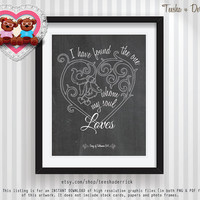 Wedding Love Quote or anniversary marriage gift & Printable Wall Decor chalk Art instant download graphic files (d0006) - Song of Solomon