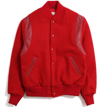 Motivation x Golden Bear 'Tonal Seal' Varsity Jacket Red / Red