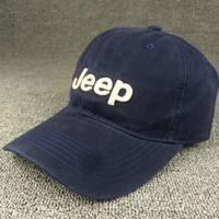 So Cool Navy Blue JEEP Embroidered Baseball Cap Hat