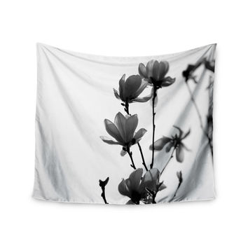 "Monika Strigel ""Mulan Magnolia"" White Gray Wall Tapestry"