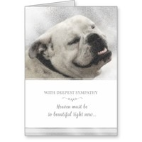 Bulldog Sympathy Card - Heaven Must be Beautiful