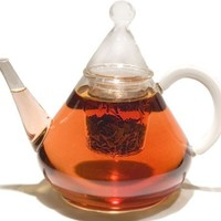 GROSCHE Merlin Thermal Glass Infuser Teapot 1200 ml 41 fl oz. capacity stovetop safe for loose tea