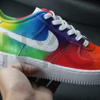 Tie Dye Nike Air Force 1 Lows Custom Men Women Kids