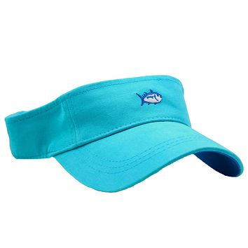 Mini Skipjack Visor in Turquoise by Southern Tide