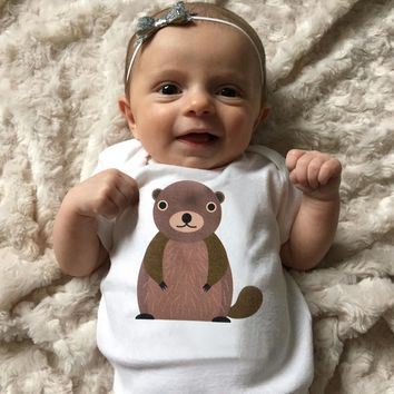 Groundhog Baby Clothes for Baby Boy or Baby Girl