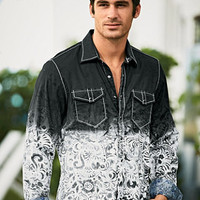 Smash® Paisley Print Tye Dyed Shirt for Men | UnderGear